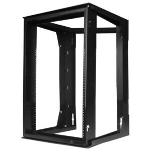 "Hubbell-Premise HPWWMR24 Rack, Wall Mount, Swing Frame, 12RMU, 24"" H x 20.7"" W x 18"" D, Black"