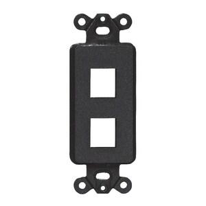 Hubbell-Premise ISF2BK Multimedia Outlet System Insert, Decora Insert, 2 Port, Black