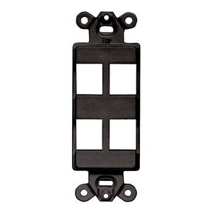 Hubbell-Premise ISF4BK Multimedia Outlet System Insert, Decora Insert, 4 Port, Black