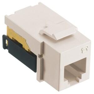 Hubbell-Premise NSJUI Modular Snap Fit USOC Jack, Ivory
