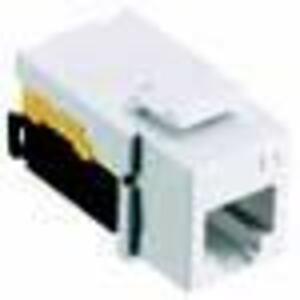 Hubbell-Premise NSJUW Modular Snap Fit USOC Jack, White