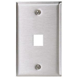 Hubbell-Premise SSF11 Module Faceplate, 1-Port, 1-Gang, Stainless Steel, Standard