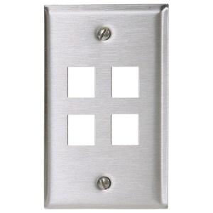 Hubbell-Premise SSF14 PLATE, WALL,SS,1-G,4PORT