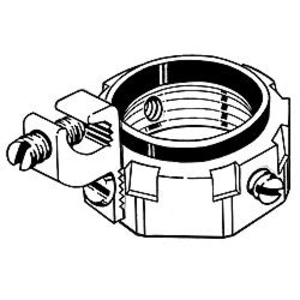 """Hubbell-Raco 1290 Grounding Bushing, 2-1/2"""", Threaded, Insulated, Malleable Iron"""