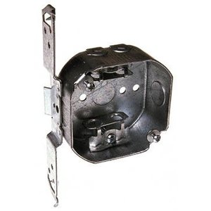 """Hubbell-Raco 155 4"""" Octagon Box, 1-1/2"""" Deep, AC/MC/Flex Clamps, Knockouts, Drawn"""