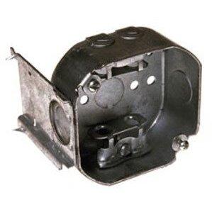 "Hubbell-Raco 157 4"" Octagon Box, 1-1/2"" Deep, J-Bracket, Flex Clamps"