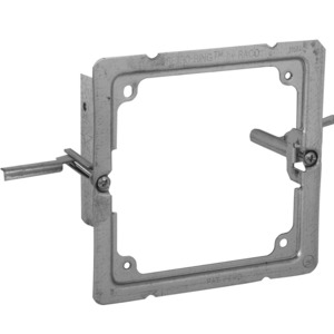 "Hubbell-Raco 205RAC 4"" Square Wall Box Mounting Bracket, Old Work, 1-Device"