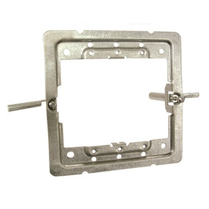 "Hubbell-Raco 206RAC 4"" Square Wall Box Mounting Bracket, Old Work, 1 or 2-Device Use"