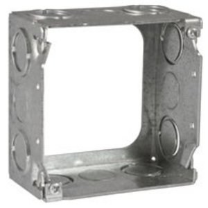 """Hubbell-Raco 207 4"""" Square Extension Ring, 2-1/8"""" Deep, Welded, Metallic"""