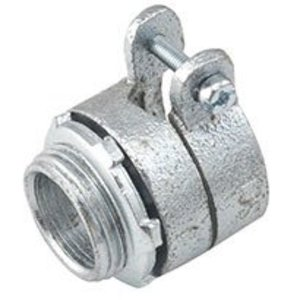 "Hubbell-Raco 2101 Flex Connector, Type: Squeeze, Non-Insulated, 3/8"", Malleable"