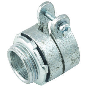 "Hubbell-Raco 2105 Flex Connector, Type: Squeeze, Non-Insulated, 1-1/4"", Malleable"