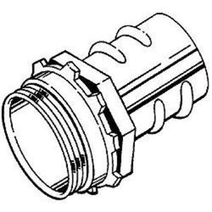 "Hubbell-Raco 2283 Screw-In Connector, 3/4"", Zinc Die Cast"