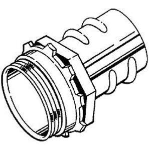 "Hubbell-Raco 2283 Screw-In Connector, 3/4"", Zinc Die Cast"