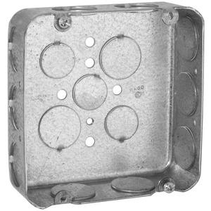 "Hubbell-Raco 246 4-11/16"" Square Box, Drawn, Metallic, 1-1/2"" Deep"