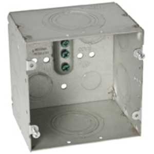 "Hubbell-Raco 260 4-11/16"" Square Data Box, Welded, Metallic, 3-1/4"" Deep"
