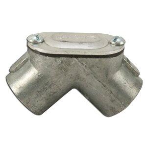 "Hubbell-Raco 2652 Conduit Handy Elbow, 1/2"", 90°, Threaded, Zinc Die Cast"