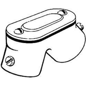 "Hubbell-Raco 2752 Conduit Handy Elbow, 1/2"", 90°, Threaded, Zinc Die Cast"