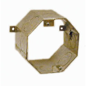 "Hubbell-Raco 277 4"" Concrete Ring, 3"" Deep, 1 - 3/4"" KOs, Steel"