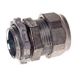 "Hubbell-Raco 2803 EMT Compression Connector, Size: 3/4"", Zinc Die Cast"