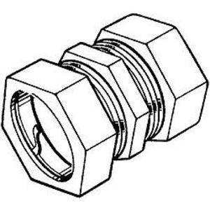 """Hubbell-Raco 2826 EMT Compression Couplings, 1-1/2"""", Die Cast Zinc"""