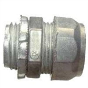 """Hubbell-Raco 2902 EMT Compression Connector, 1/2"""", Concrete Tight, Steel"""