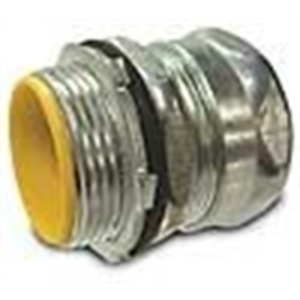 "Hubbell-Raco 2913 EMT Compression Connector, Steel, 3/4"", Insulated"