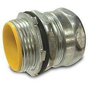 Hubbell-Raco 2913RT EMT Compression Connector, 3/4 inch, Insulated, Raintight, Steel