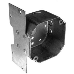 "Hubbell-Raco 294 4"" Octagon Ceiling Box with Bracket, Depth: 2-1/8"",  KOs, Metallic"