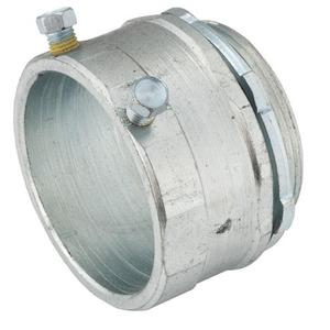 "Hubbell-Raco 3008 Rigid Set Screw Connector, 2"", Steel, Concrete Tight"