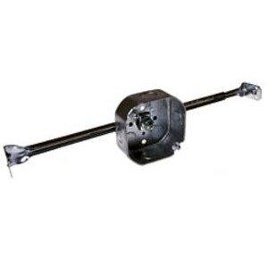 """Hubbell-Raco 324 4"""" Octagon Box w/Hanger, 1-1/2"""" Deep, 1/2"""" KOs"""