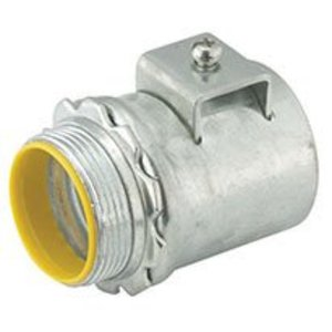"""Hubbell-Raco 3302DB Flex Connector, Squeeze, Insulated, 1/2"""", Malleable"""