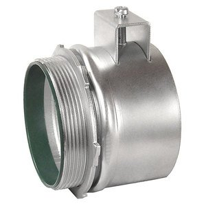 """Hubbell-Raco 3303DB Flex Connector, Squeeze, Insulated, 3/4"""", Malleable"""