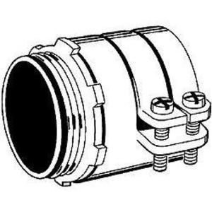 """Hubbell-Raco 3306 Flex Connector, Straight, Insulated, Squeeze, 1-1/2"""", Malleable Iron"""