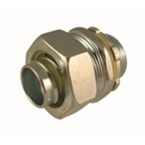 "Hubbell-Raco 3403 Liquidtight Connector, Straight, 3/4"", Steel"