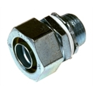 """Hubbell-Raco 3404 Liquidtight Connector, Straight, 1"""", Steel"""