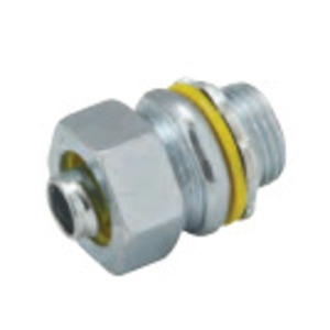"""Hubbell-Raco 3410 Liquidtight Connector, Straight, 2-1/2"""", Malleable Iron"""