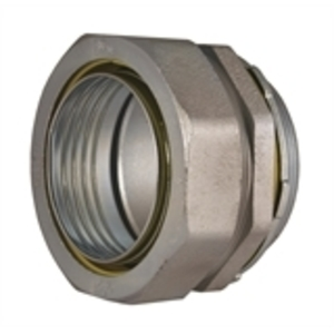 """Hubbell-Raco 3412 Liquidtight Connector, Straight, 3"""", Malleable Iron"""