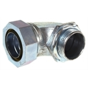 """Hubbell-Raco 3425 Liquidtight Connector, 90°, 1-1/4"""", Malleable Iron"""