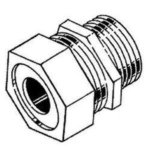 "Hubbell-Raco 3702-5 Cord/Cable Connector, Strain Relief, 1/2"", Steel"