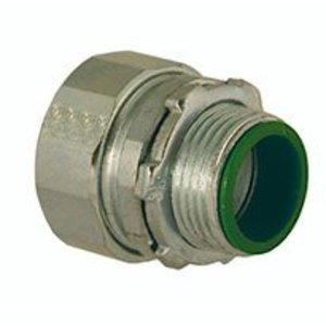 """Hubbell-Raco 3804RAC Compression Connector, Insulated, 1"""", Steel/Malleable"""