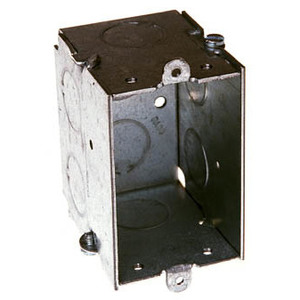 "Hubbell-Raco 501 Switch Box, 2-1/2"" Deep, No Ears, 1/2"" & 3/4"" Kos"