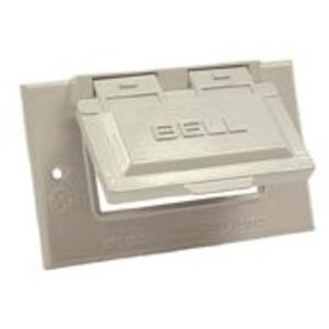 Hubbell-Raco 5101-1 Single Gang Weatherproof, GFI Type Receptacle Plate