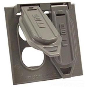 Hubbell-Raco 5148-0 Weatherproof Cover, 2-Gang, Vertical, Type: Duplex, Die Cast