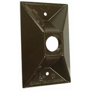 Hubbell-Raco 5186-7 BELL BRONZE CLUST. COVER