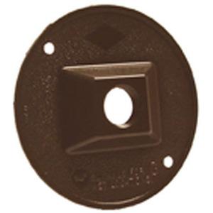 """Hubbell-Raco 5193-2 Weatherproof Outdoor Cover, Round, 4"""", (1) 1/2"""" Hubs, Bronze"""