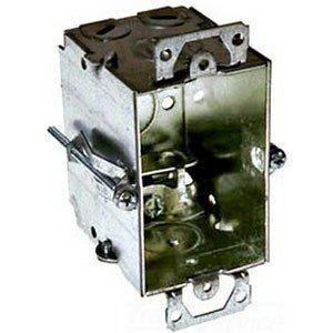 "Hubbell-Raco 523 Switch Box, Gangable, 2-1/2"" Deep, AC/MC/Flex Clamps, Ears"