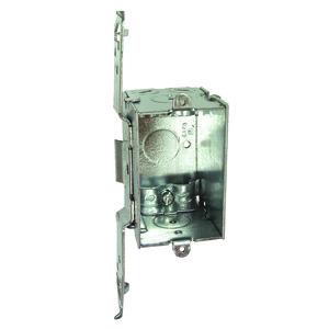 "Hubbell-Raco 531 Switch Box, Gangable, 2-1/2"" Deep, NM Clamp, TS Bracket"