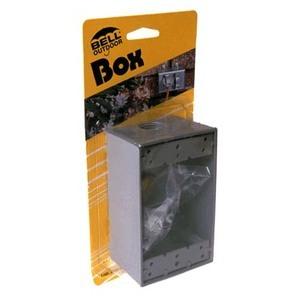 """Hubbell-Raco 5320-5 Weatherproof Box, 1-Gang, Die Cast. Depth: 2"""", Die Cast"""