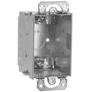 "Hubbell-Raco 567 Switch Box, Gangable, 2-3/4"" Deep, NM Clamps, Ears"