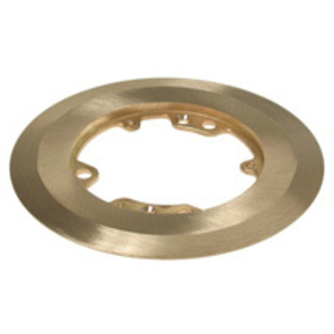 "Hubbell-Raco 6230 5-1/4"" Round Flange, Metallic, Brass"